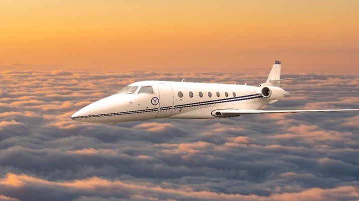 Yugo Private Aviation's Gulfstream G200 midrange private jet (Photo: Business Wire)