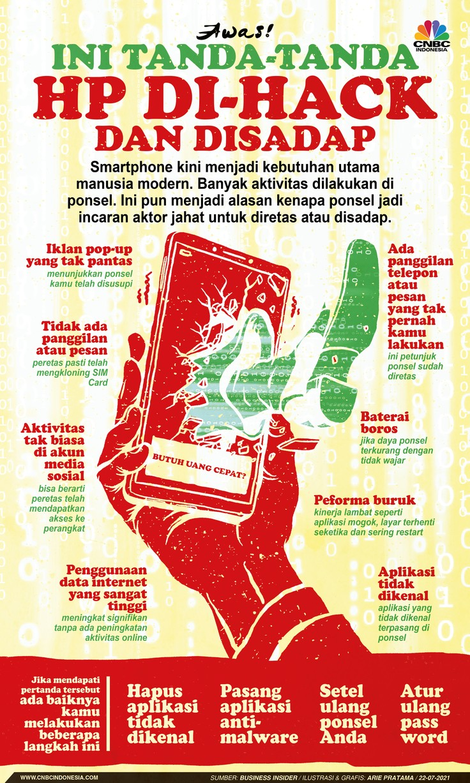 Infografis: Awas! Ini Tanda-tanda HP Di-hack dan Disadap