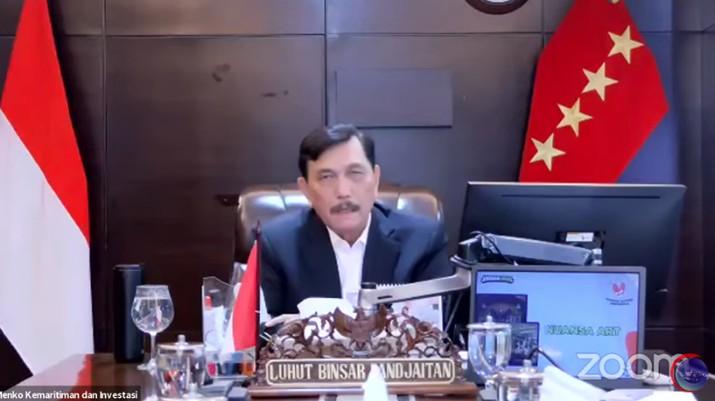 Menteri Koordinator Bidang Kemaritiman dan Investasi Luhut Binsar Panjaitan (Tangkapan Layar Youtube Kemenko Bidang Kemaritiman dan Investasi RI)