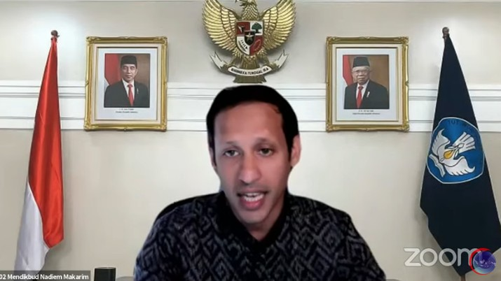 Menteri Pendidikan, Kebudayaan, Riset dan Teknologi (Mendikbudristek) Nadiem Makarim. (Tangkapan Layar Youtube Kemenko Bidang Kemaritiman dan Investasi RI)