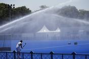 Seperti Hujan, Potret Olimpiade Tokyo Diguyur Disinfektan