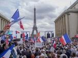 Potret Ribuan Massa Prancis Demo Tolak Kebijakan Macron