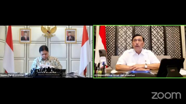 Konferensi Pers Evaluasi dan Penerapan PPKM (Tangkapan Layar Youtube PerekonomianRI)