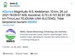 Pasca Gempa Bumi Sulteng M6,3, Waspada Gempa Susulan