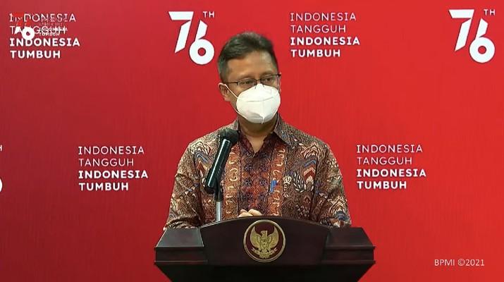 Keterangan pers Menteri Kesehatan terkait PPKM Level 4. Ist