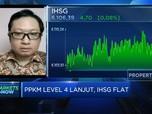 PPKM Level 4 Lanjut, IHSG Awal Pekan Flat di Level 6.100-an