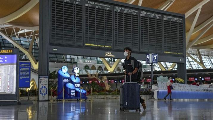 Airport in Shanghai, China. (AP/Andy Wong)