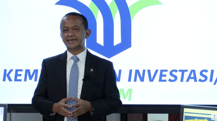Bahlil Lahadalia dalam acara konferensi pers virtual realisasi Investasi Triwulan II 2021. (Dok: BKPM TV)