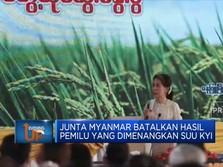 Junta Myanmar Batalkan Hasil Pemilu Yang Dimenangkan Suu Kyi