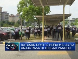 Ratusan Dokter Muda Malaysia Demo Mogok Kerja