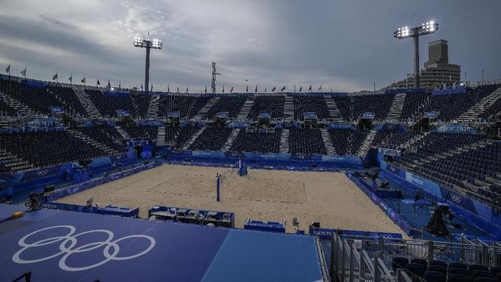 Olimpiade Tokyo 2020 tanpa penonton. (AP/Petros Giannakouris)