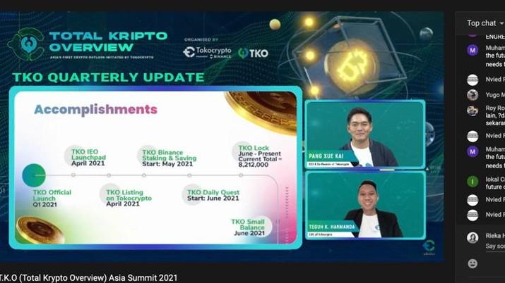 Perkembangan Crypto dan Proyek Blockchain Diumumkan Tokocrypto  Pada Konferensi Internasional, T.K.O Summit 2021. (Tangkapan layar)