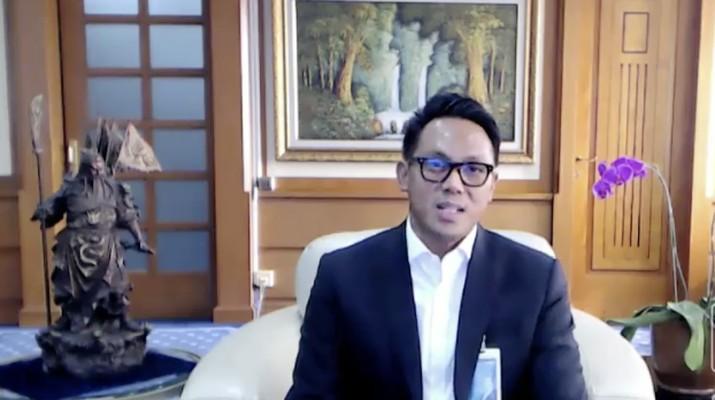 Direktur Treasury & International BNI Henry Panjaitan dalam acara UMKM Go Global Bersama BNI. (Dok: Tangkapan layar CNBC Indonesia TV)