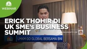 Erick Thohir Dorong Peran BNI Perluas Pasar UMKM di Inggris