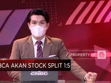BBCA Akan Stock Split Dengan Rasio 1:5