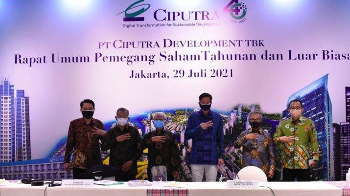 Rapat Umum Pemegang Saham Tahunan (RUPST) CTRA Kamis (29/7/2021)/dok CTRA