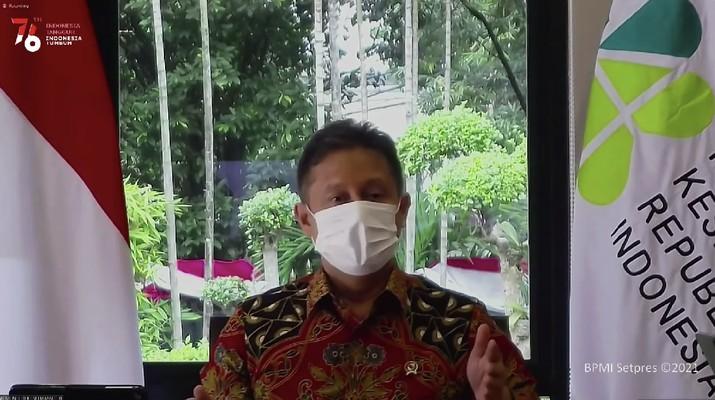 Keterangan Pers Menteri Kesehatan Budi Gunadi Sadikin, 2 Agustus 2021 (Tangkapan Layar Youtube)