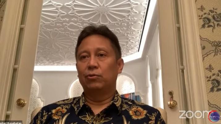 Menteri Kesehatan, Budi Gunadi Sadikin Saat Konferensi Pers Virtual Evaluasi dan Penerapan PPKM (Tangkapan Layar Youtube Kemenko Marves)