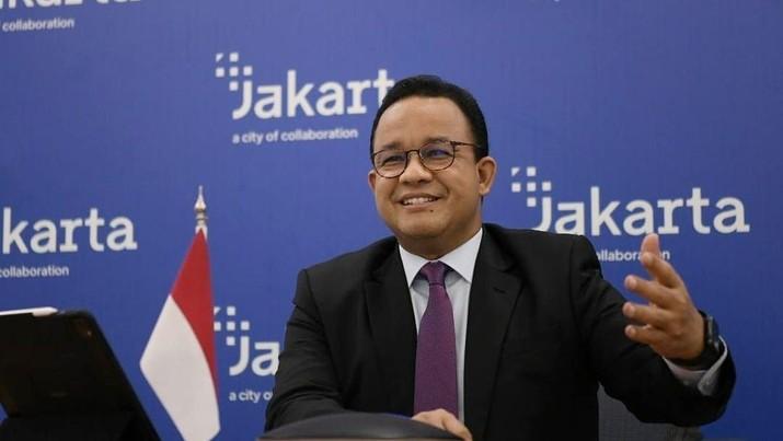 Gubernur DKI Jakarta Anies Baswedan berbincang secara virtual dengan Walikota London, Sadiq Khan. (Tangkapan Layar Instagram @aniesbaswedan)