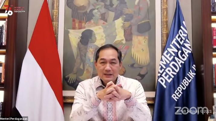 Menteri Perdagangan (Mendag), M. lutfi (Tangkapan Layar Youtube Sekretariat Presiden)
