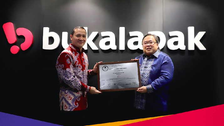 CEO Bukalapak Rachmat Kaimuddin dan Komisaris Utama Bambang Brodjonegoro, dok Bukalapak, IPO 6 Agustus 2021