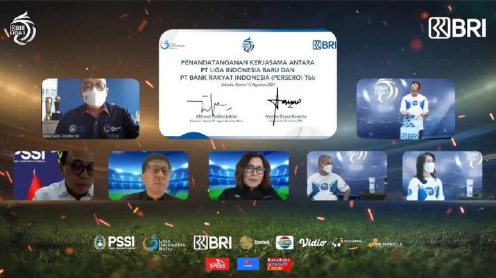 BRI Resmi menjadi sponsor Liga 1 2021-2022
