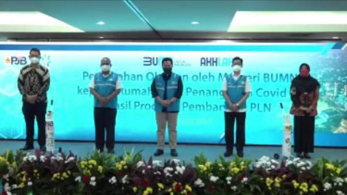 PT PLN (Persero) melaksanakan perintah mendayagunakan produksi oksigen murni untuk keperluan medis.