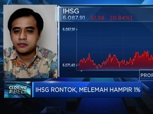 IHSG Rontok, Ditutup Melemah Hampir 1%