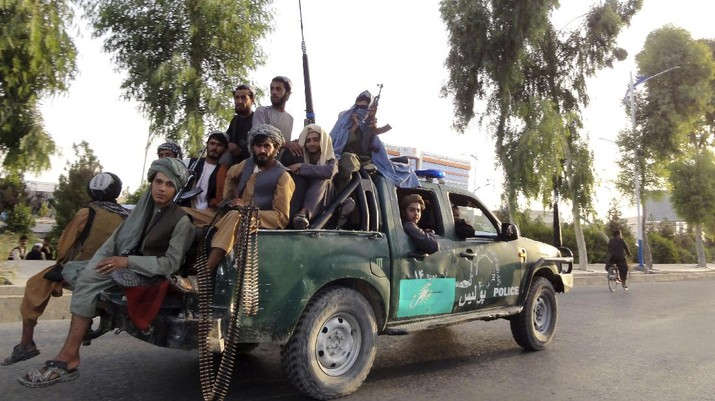 Pejuang Taliban. (AP/Gulabuddin Amiri)