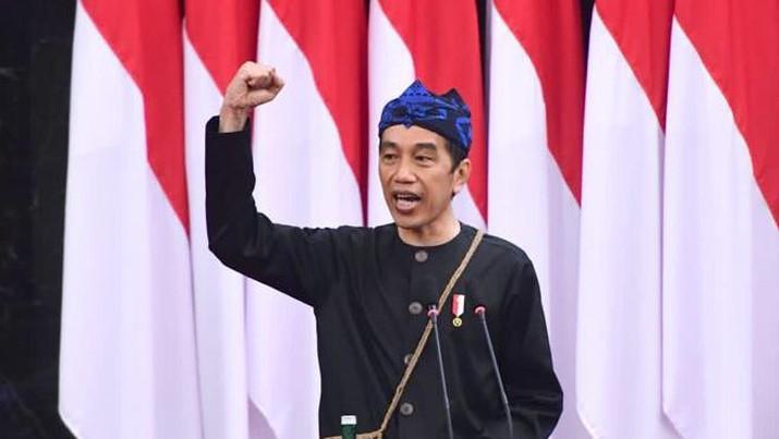 Pidato Kenegaraan Presiden RI Joko Widodo pada sidang tahunan MPR RI dan sidang bersama DPR RI-DPD RI. (Dok: Biro Pers Sekretariat Presiden)