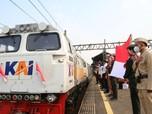 Merdeka! Ini Penampakan Perayaan HUT RI ke-76 di Kereta Api