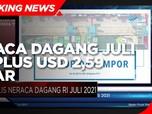 BPS: Neraca Dagang Juli 2021 Surplus USD 2,59 Miliar