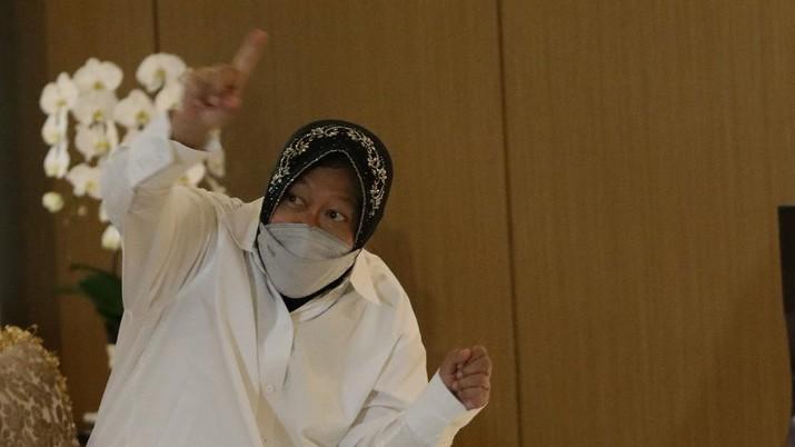 Menteri Sosial Tri Rismaharini. (CNBC Indonesia/Muhammad Sabki)