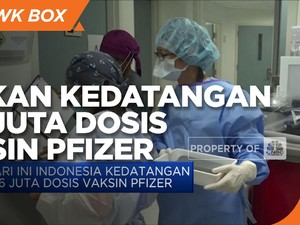 Indonesia akan Kedatangan 1,56 Juta Dosis Vaksin Pfizer