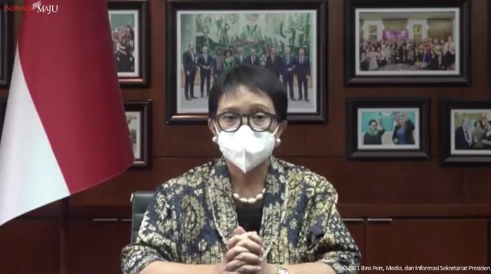 Kedatangan Vaksin Covid-19 Tahap 39, Bandara Internasional Soekarno-Hatta, (19/8/2021). (Dok: Tangkapan layar youtube Sekretariat Presiden)