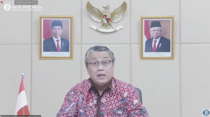Pengumuman hasil rapat Dewan Gubernur Bulanan Bulan Agustus 2021. (Dok: Tangkapan layar youtube Bank Indonesia)