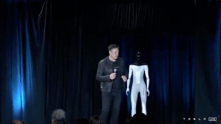 Elon Musk mengatakan Tesla akan membangun prototipe robot humanoid tahun depan. (Dok: Tesla)