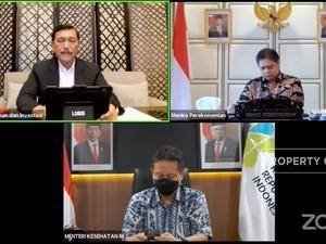 Luhut Soal Penurunan Level PPKM Jabodetabek Hingga Surabaya