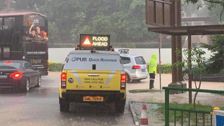 Banjir Singapura (Facebook/PUB, Singapore's National Water Agency via CNA)
