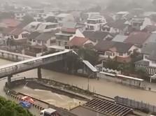 Waduh! Negara Keren Singapura Kena Banjir, Jalanan Bak Sungai