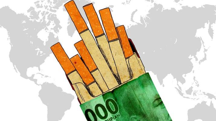 Infografis: Tarif Cukai Rendah, Harga Rokok RI Termurah di Dunia!