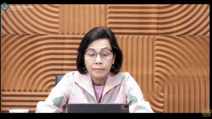 Menteri Keuangan Sri Mulyani Saat Konfrensi Pers Mengenai Pemerintah & Bank Indonesia Perkuat Kerja Sama dlm Pembiayaan Sektor Kesehatan & Kemanusiaan (Tangkapan Layar Youtube Kemenkeu RI)