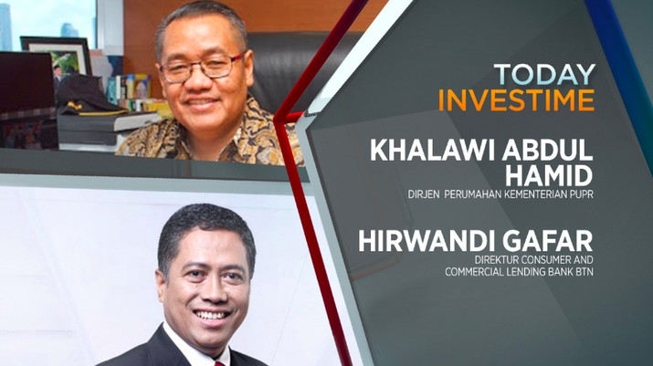 Khalawi Abdul Hamid, Dirjen Penyediaan Perumahan Kementerian PUPR dan Hirwandi Gafar, Direktur Consumer and Commercial Lending Bank BTN.