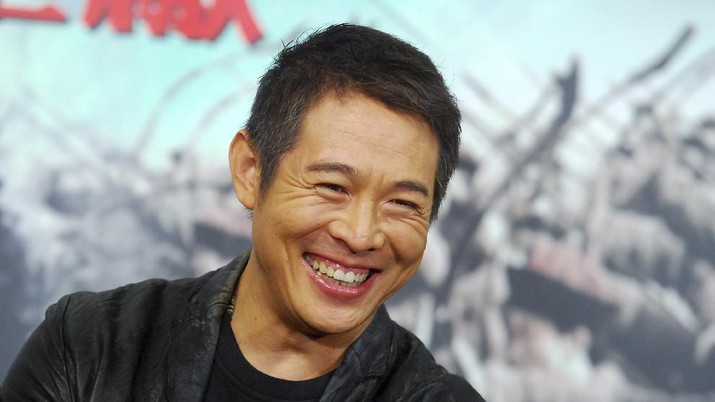 Chinese actor Jet Li smiles during a news conference to promote the film