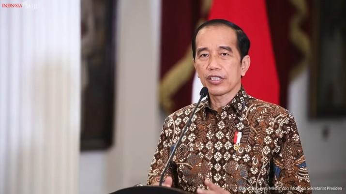 Pernyataan Presiden Joko Widodo tentang Perkembangan PPKM Terkini, Istana Merdeka. (Tangkapan Layar Youtube Sekretariat Presiden)
