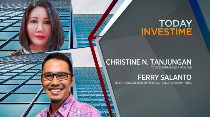 ITC Division Head Sinar Mas Land  Christine N. Tanjungan dan Ferry Salanto, Senior Assocate Director Research Colliers International
