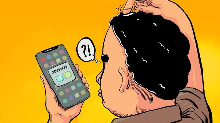 INFOGRAFIS, Mengenal GB Whatsapp, Aplikasi Berbahya yang Banyak Fiturnya