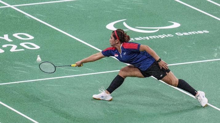 Leani Ratri Oktila raih perak Paralimpiade Tokyo 2020. (AP/Joe Toth)
