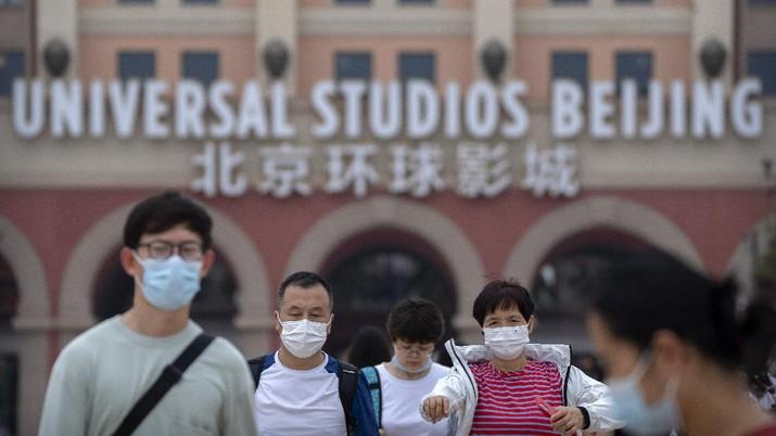 Universal Studio Beijing, China dibuka kembali. (AP/Ng Han Guan)
