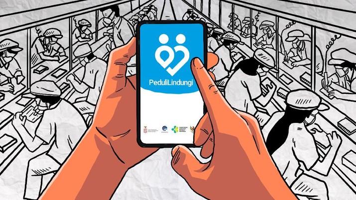 Infografis/Industri Wajib Pakai Aplikasi PeduliLindungi/Aristya Rahadian